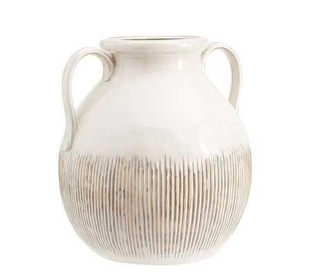 ECLECTIC IVORY CERAMIC VASE - Pottery Barn