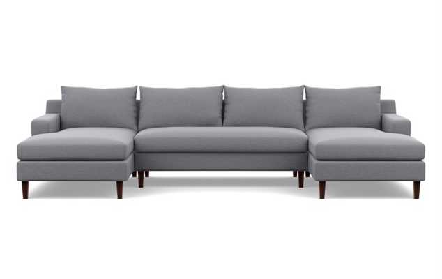 Sloan U sectional & bench cushion - Interior Define