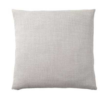 """Libeco Linen Pillow Cover, 24"""", Pewter - Pottery Barn"""