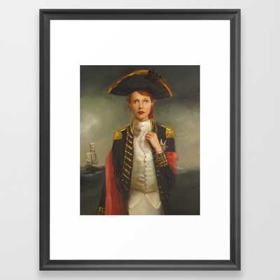 "Her Face Launched A Thousand Ships by Janet Hill,  20"" x 26"" - Scoop Black frame - Society6"
