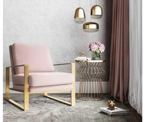 Mott Mauve Velvet Chair - High Fashion Home
