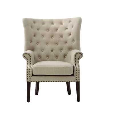 Ernest Dark Beige Polyester Arm Chair - Home Depot