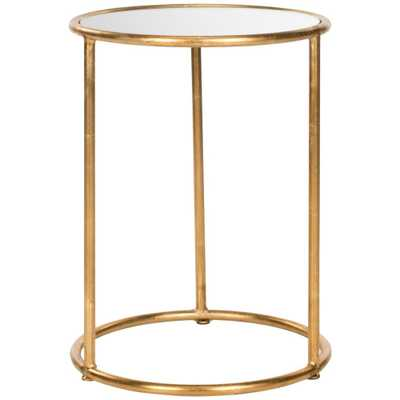 Shay Gold Mirror Top End Table - Home Depot