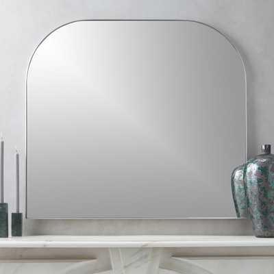 Infinity Silver Mantel Mirror - CB2