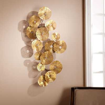 40.75 in. H x 20.75 in. W Aggie Abstract Wall Sculpture, Gold Metallic - Home Depot