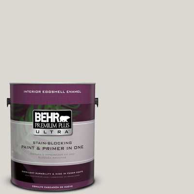 BEHR Premium Plus Ultra 1 gal. #790C-2 Silver Drop Eggshell Enamel Interior Paint and Primer in One, Grays - Home Depot