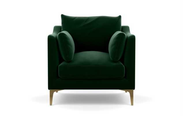 CAITLIN BY THE EVERYGIRL ACCENT CHAIR PETITE - Emerald - Interior Define