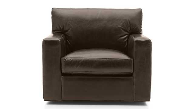 Axis II Leather Swivel Chair - Crate and Barrel