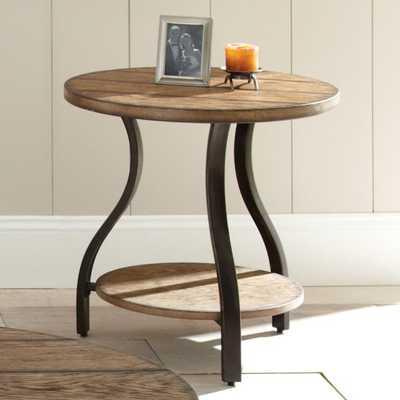 Steve Silver Denise Round Light Oak Wood End Table - Hayneedle