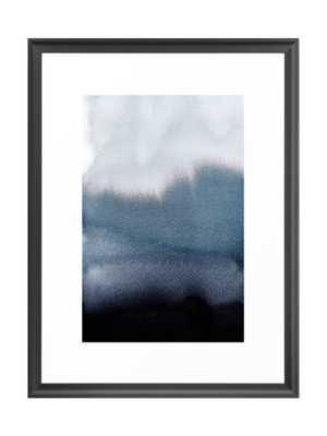 """In Blue Framed Artwork, 26""""x38"""", Scoop Black Frame - Society6"""