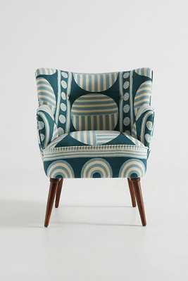 Ulla Accent Armchair - Blue - Anthropologie