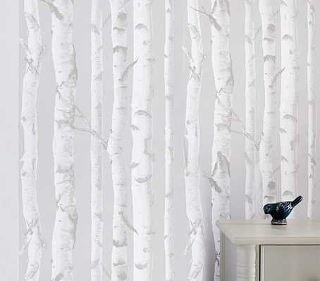 Birch Peel & Stick Wallpaper - Pottery Barn Kids