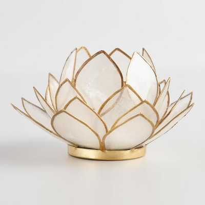 White Lotus Capiz Tealight Candleholder - World Market/Cost Plus
