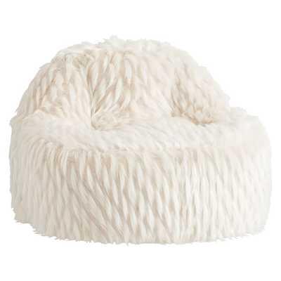 Winter Fox Faux-Fur Leanback Lounger - Pottery Barn Teen