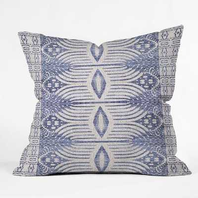 """FRENCH LINEN TRIBAL IKAT Pillow - 20"""" x 20"""" - Insert Included - Wander Print Co."""