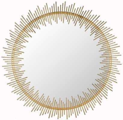 SUNRAY CIRCLE MIRROR/ANTIQUE GOLD - Arlo Home