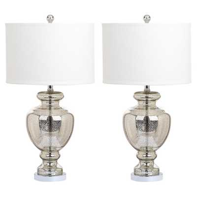 CLEAR GLASS TABLE LAMP - Set of 2 - Arlo Home