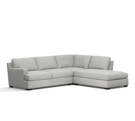 TOWNSEND UPHOLSTERED SQUARE ARM 3-PIECE BUMPER SECTIONAL - Pottery Barn