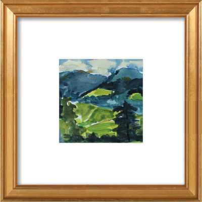 """Mountains and Meadows, 8"""" x 8"""" framed art print - Artfully Walls"""