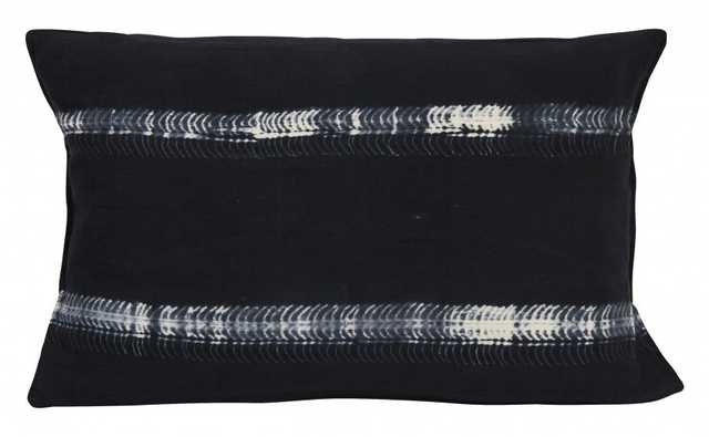 BLACK TIE DYE STRIPE PILLOWS - Jayson Home