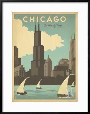 "Chicago: The Windy City Framed Art Print 30"" x 38"" - art.com"