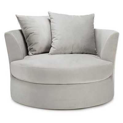Cuddler Chair in Bella Gray - Small - Z Gallerie