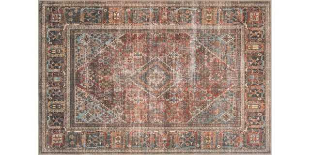 "LQ-13 BRICK / MIDNIGHT- Loren Collection- 7'6"" x 9'6"" - Loma Threads"