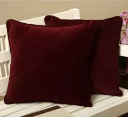 Cotton Velvet Decorative Pillows (Set of 2) - Overstock