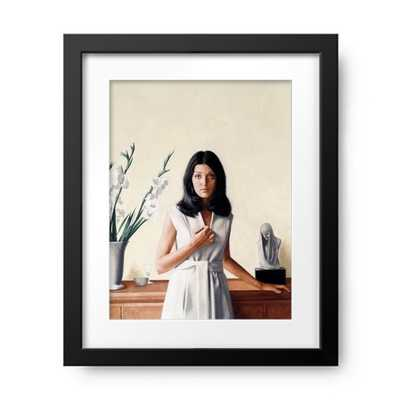 Portrait Of Young Woman By Stanley Framed Print - Photos.com by Getty Images