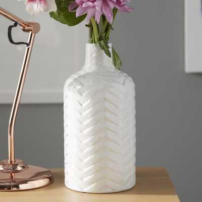 Traditional White Ceramic Vase - Wayfair