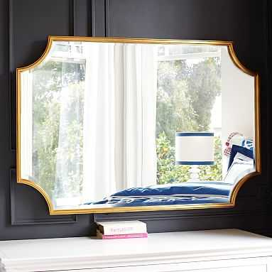 Scallop Gold Leaf Mirror - Large - Pottery Barn Teen