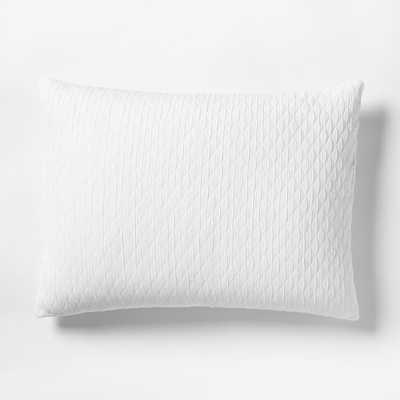 Organic Ripple Texture Sham - Stone White - West Elm
