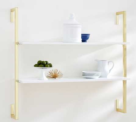 OLIVIA WALL MOUNTED SHELVES - 2 TIER / Gold finish - Pottery Barn
