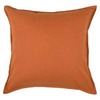 Solid Throw Pillow - Rizzy Home - Orange - Polyester Insert - Target