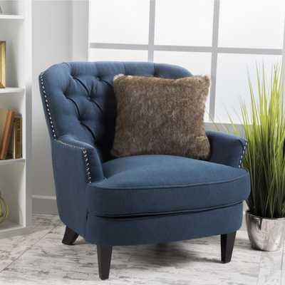 Tafton Tufted Oversized Fabric Club Chair by Christopher Knight Home - Overstock