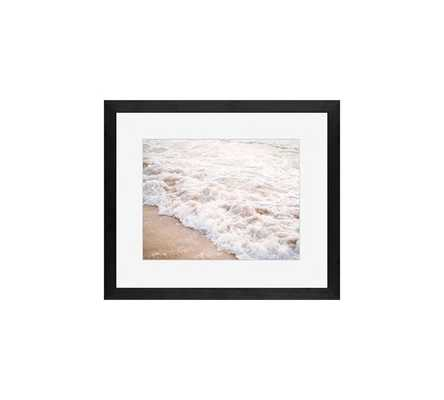 WAVES BY JUSTINE MILTON - black wood gallery frame with mat 16 x 20 - Pottery Barn