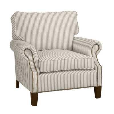 Stratford Chair - Vintage Ticking Stripe Black - Ballard Designs
