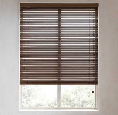 "CUSTOM WOOD BLINDS - WALNUT - 87""W x 108""L - RH"