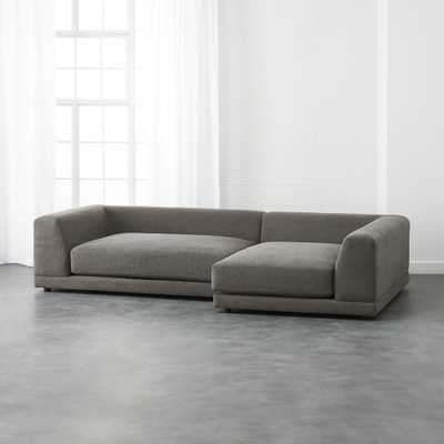 uno 2-piece sectional sofa - CB2