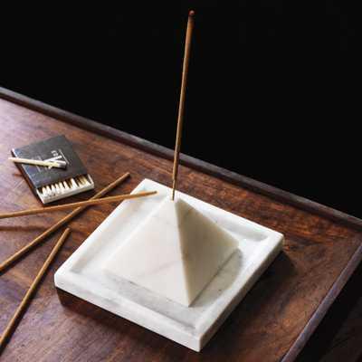SAIC pyramid incense burner with tray - CB2
