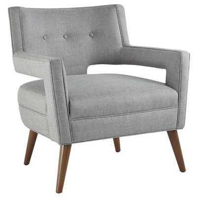 SHEER FABRIC ARMCHAIR IN LIGHT GRAY - Modway Furniture