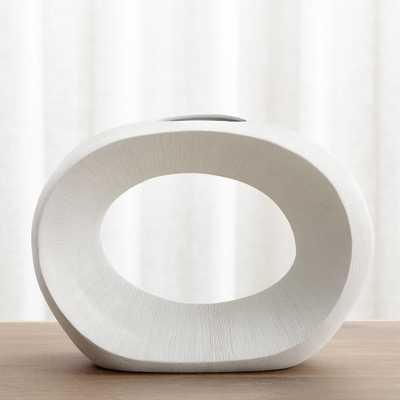 Alura Cream Open Vase - Crate and Barrel