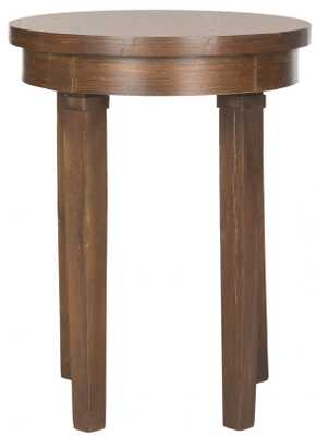 KIPP ROUND TOP WOOD END TABLE - Arlo Home