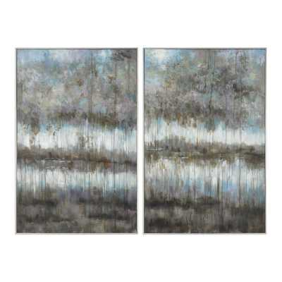 Gray Reflections, Set of 2 - Hudsonhill Foundry