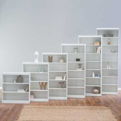 "Remmington Heavy Duty Bookcase - White - 96"" - Hayneedle"