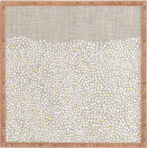 "Pebbles Framed Artwork - 30' x 30"" - Bamboo Frame - Wander Print Co."