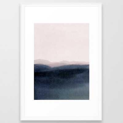 dusk scenery- 11x14, matte black frame - Artfully Walls