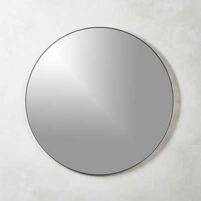 "Infinity Black Round Wall Mirror 48"" - CB2"