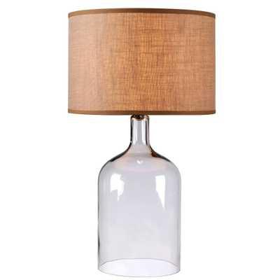 "Capri 30"" Clear Glass table lamp - Home Depot"