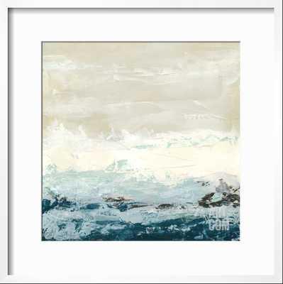 "Coastal Currents 1 - 20"" x 20"" - CHELSEA White - Width 0.75"" Frame - art.com"
